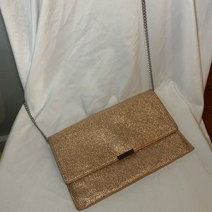Loeffler Randall Rose Gold Sparkly Crossbdy/Clutch